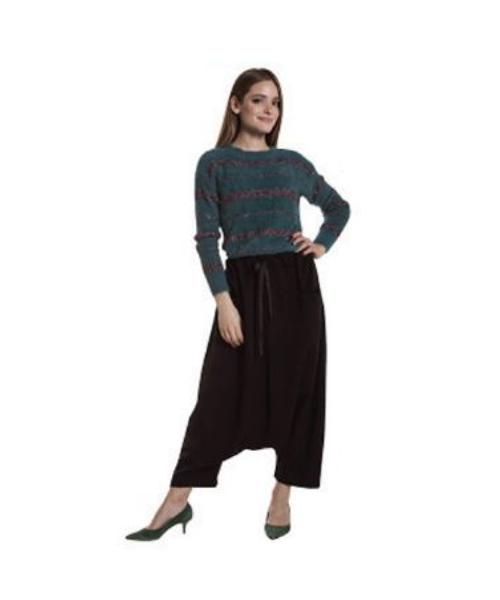 maglia lurex e pantaloni ampi abbigliamento donna we-shop
