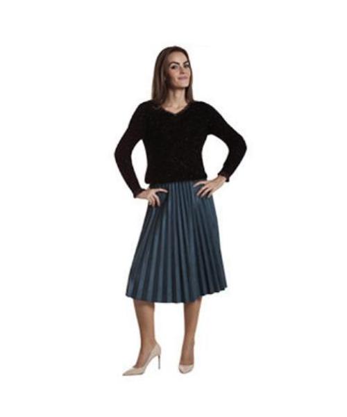 maglia lurex e gonna plissè abbigliamento donna we-shop