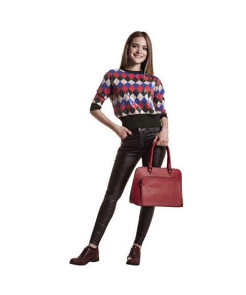 maglia con pailettes e pantaloni stretch abbigliamento donna we-shop