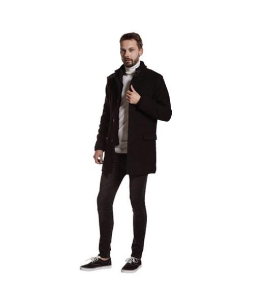 giaccone in tinta unita e jeans stretch abbigliamento uomo we-shop