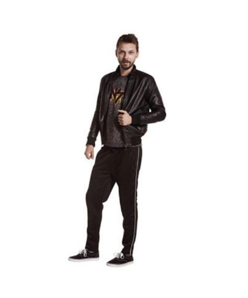 giubbino ecopelle e pantaloni sportivi abbigliamento uomo we-shop