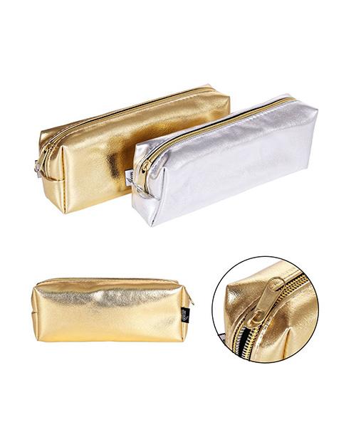 astucci in pvc decorazione oro e argento articoli cartoleria we-shop