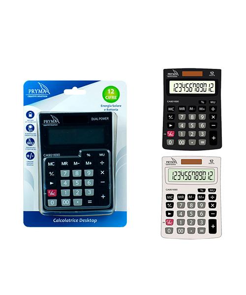 calcolatrice pryma articoli cartoleria we-shop