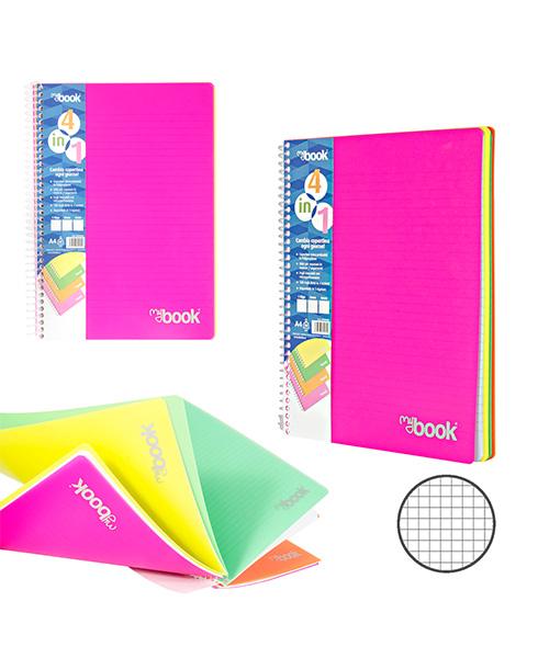 quaderno a spirale in plastica a quadretti articoli cartoleria we-shop