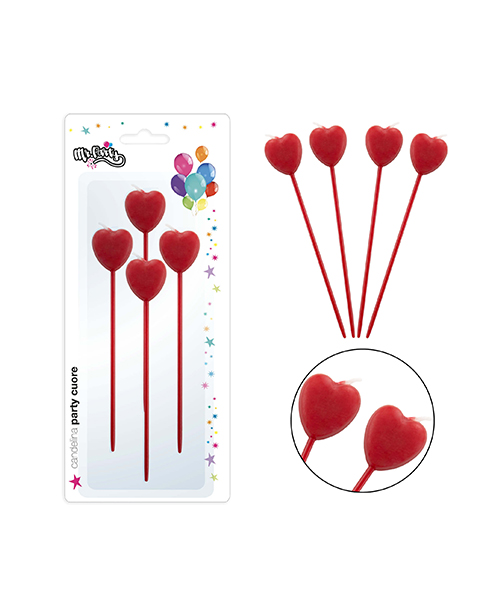 candeline a forma di cuore decorazioni per feste we-shop