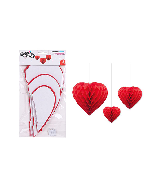 festone a forma di cuore decorazioni per feste we-shop