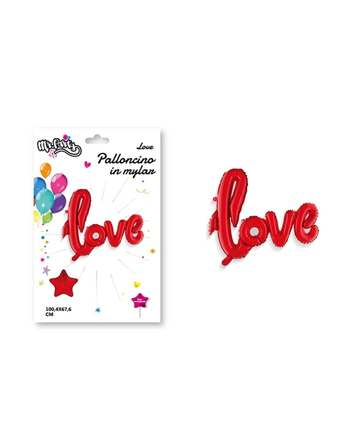 palloncino in nylon love decorazioni per feste we-shop