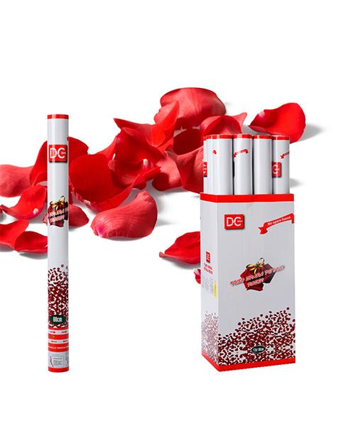 tubo spara petali rossi decorazioni per feste anniversario we-shop