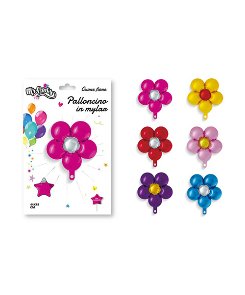 palloncino in nylon a forma fiore decorazioni per feste we-shop