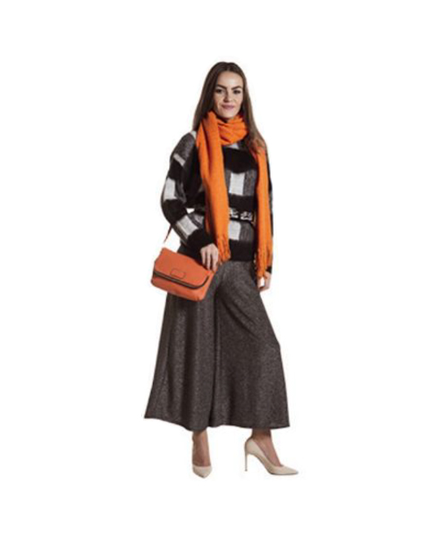 sciarpa e pantaloni ampi abbigliamento donna we-shop