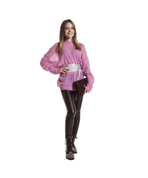 maglia traforata e pantaloni stretch abbigliamento donna we-shop