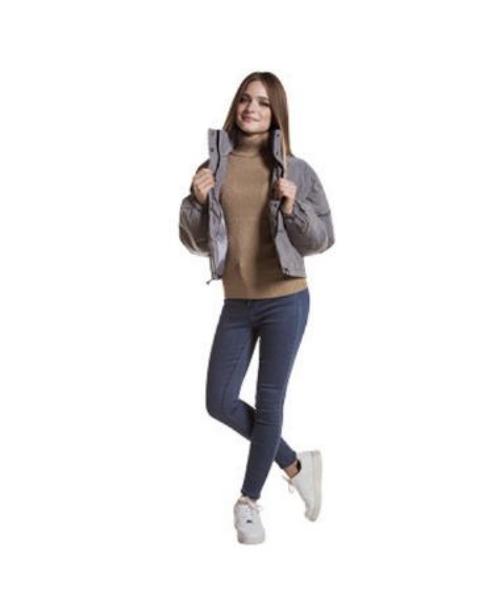 giubbino imbottito maglia collo alto smanicata jeans stretch abbigliamento donna we-shop