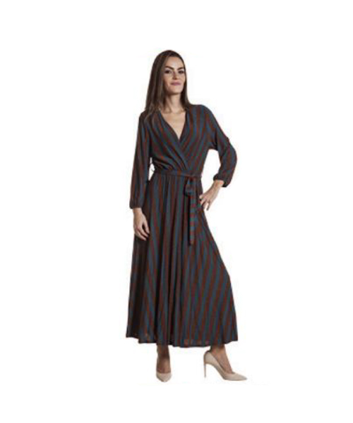 abito a righe abbigliamento donna we-shop