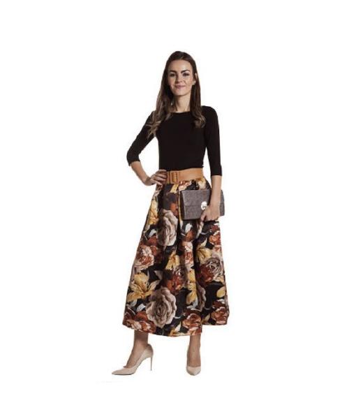 maglia maniche 3/4 e gonna a fiori abbigliamento donna we-shop