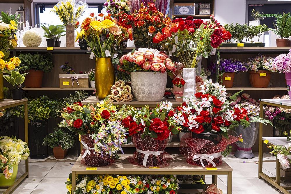 We Shop - Fiori finti, rose rosse,