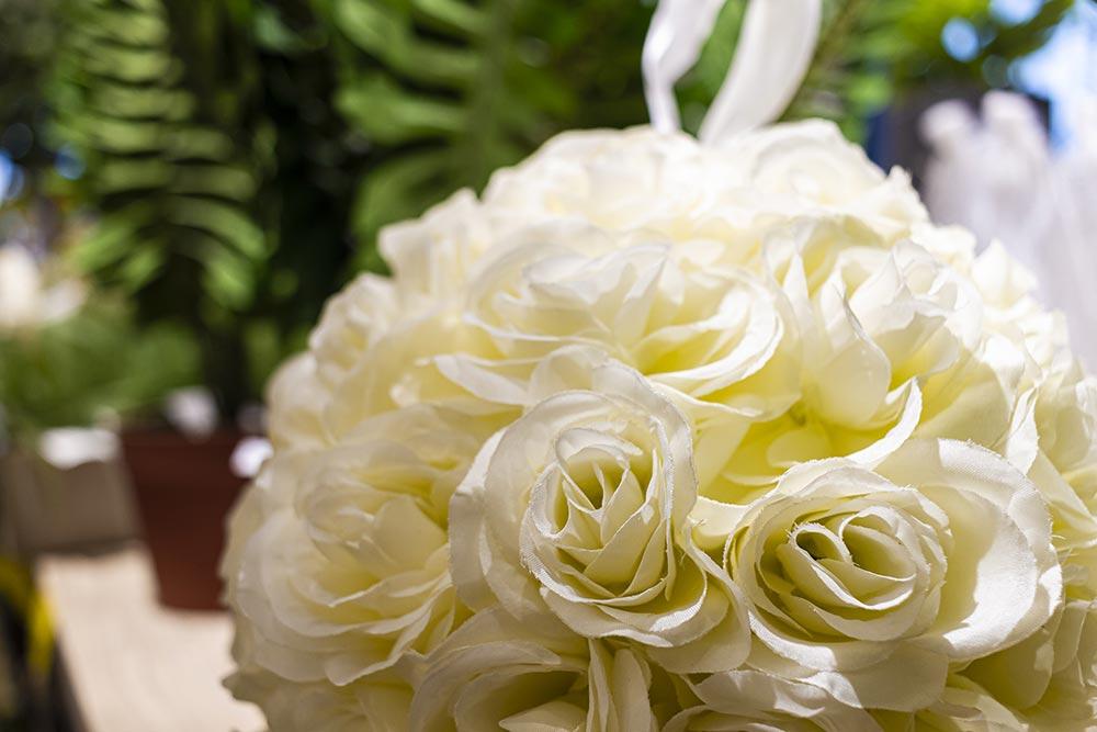 We Shop - Fiori finti, rose bianche