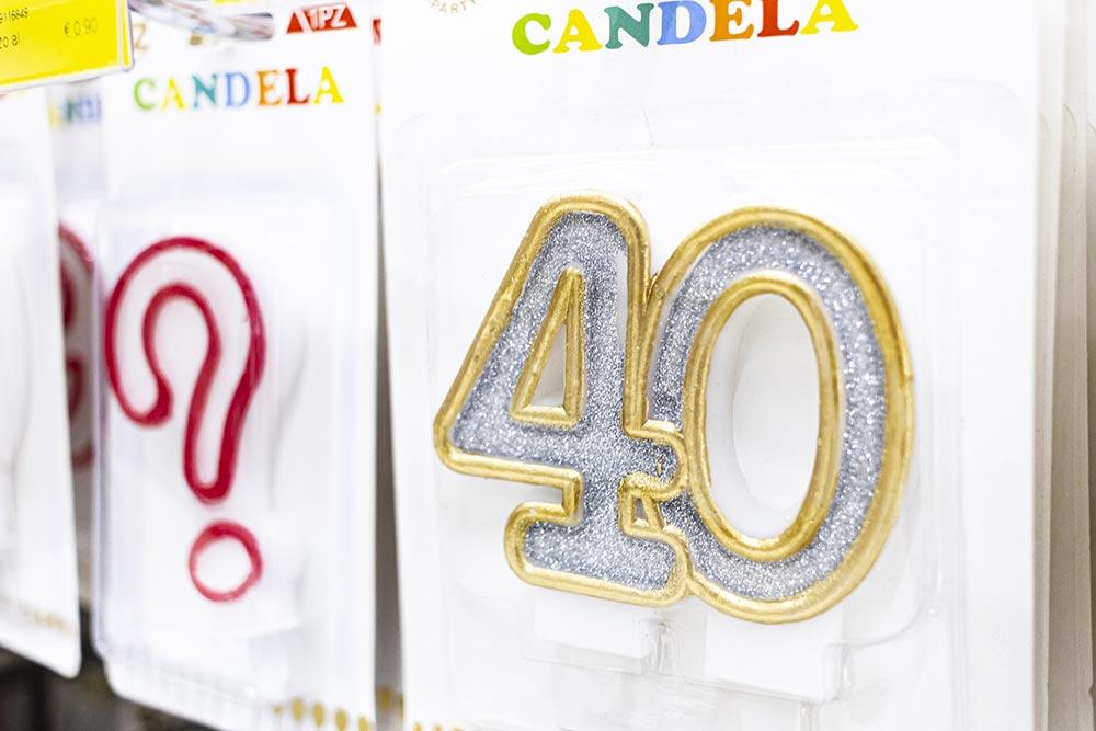 We Shop - articoli per le feste, candele colorate numeri