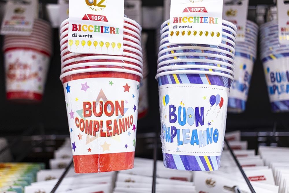 We Shop - articoli per le feste, bicchieri di carta buon compleanno